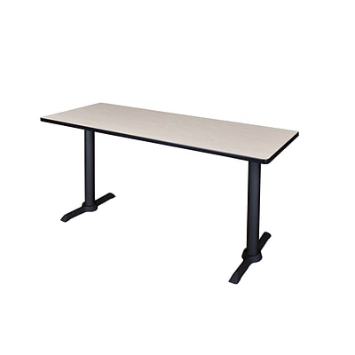 Regency 66-inch Metal & Wood Cain Computer Table, Maple