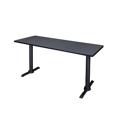 Regency 72-inch Metal & Wood Rectangular Cain Training Table, Gray