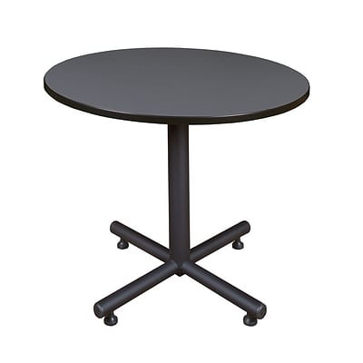 Regency Kobe 36 Round Break Room Table, Gray (TKB36RNDGY)