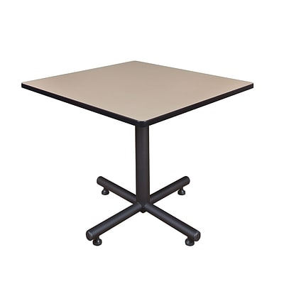 Regency 42-inch Square Kobe X Base Lunchroom Table, Beige
