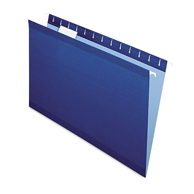 Pendaflex® Colored Reinforced Hanging Folders, Navy, Legal, 25/Box (415315NAV)