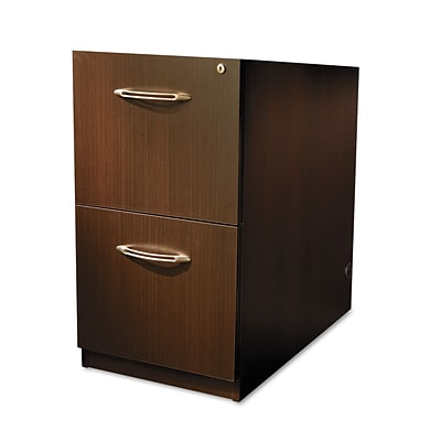 Mayline® Aberdeen Collection in Mocha, File Pedestal for Credenza