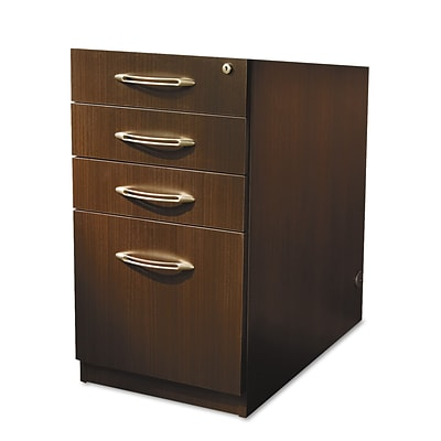 Mayline® Aberdeen Collection in Mocha, File Pedestal for Desk