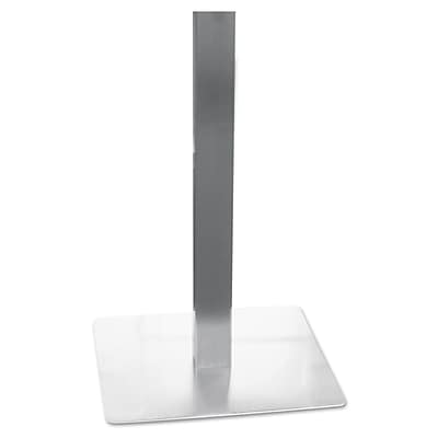 Mayline® 28 Hospitality Table Steel Pedestal Base, Silver