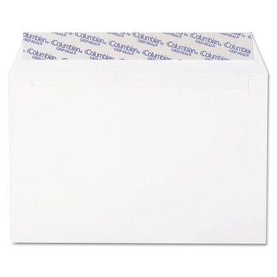 Columbian® Grip-Seal® Booklet/Document Envelope, White, 9 x 6, 250/Box (CO330)