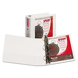 Speedy Spine Angle-D Ring View Binder, 11 x 8-1/2, 3 Capacity, White