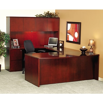 Mayline® Luminary Collection in Cherry, Credenza Shell