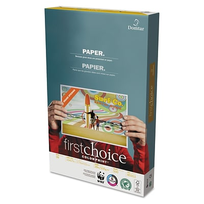Domtar® First Choice™ ColorPrint Premium Paper, LEDGER-Size, 98/110+ US/Euro Brightness, 28 Lb., 11H x 17W, 500 Sheets/Rm