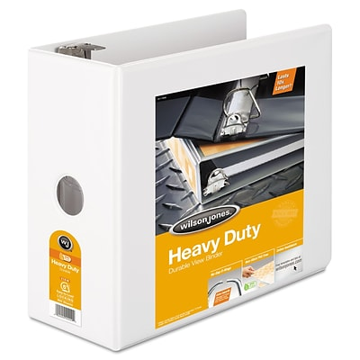 Wilson Jones® Heavy-Duty D-Ring View Binder with Extra-Durable Hinge, 8 1/2 x 11, View, Each (W38550WC)