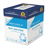 Hammermill® Great White® 30 Recycled Copy Paper, 8 1/2 x 11, White, 2500/Carton (067780)