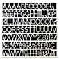 "MasterVision Plastic Letters, Numbers & Symbols, White, 1"", 270/Pack"