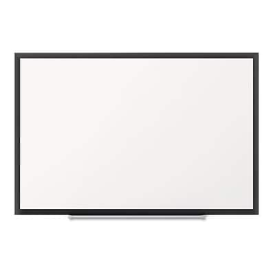 Quartet Standard Magnetic Whiteboard, Black Aluminum Frame, 3 x 2