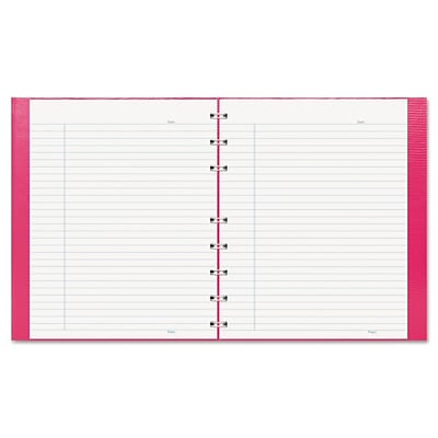 Blueline NotePro Pink Ribbon Executive Notebook, 7-1/4 x 9-1/4, 75 Ruled Sheets, White Paper, Bright Pink Cover