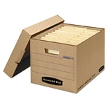 Bankers Box® Mystic™ Heavy-Duty Instant Set-Up Storage Boxes with Lift-Off Lid, Letter/Legal, Kraft,
