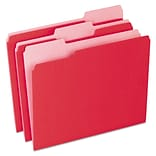 Pendaflex® Colored File Folders, Letter, Red, 100/Box (1521/3RED)