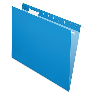 Pendaflex® Essentials™ Colored Hanging Folders, Blue, Letter, 25/Box (81603)