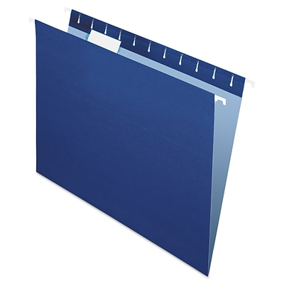 Pendaflex® Essentials™ Colored Hanging Folders, Navy, Letter, 25/Box (81615)