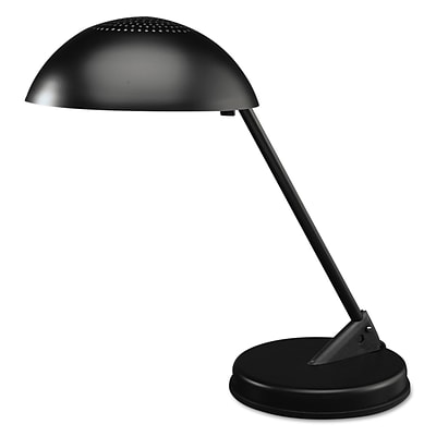Ledu CFL Domed Desk Lamp, 8 3/4 x 16 1/4 x 16 1/4, Matte Black (L563MB)