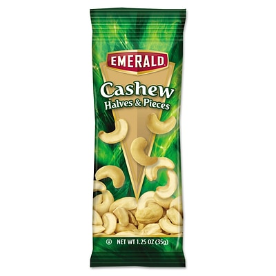 Emerald® Snack Nuts, Cashews, Tube Nuts, 1.25 oz (94017)