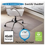 Quill Brand® Standard 46 x 60 Rectangular Chair Mat for Carpet & Hard Floor , Vinyl (ESR120321)