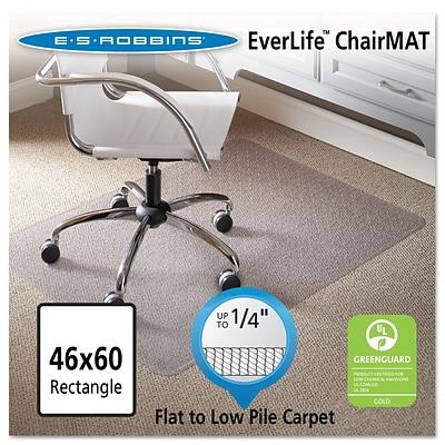 ES Robbins® Task Series Rectangle Chair Mat, 46x60