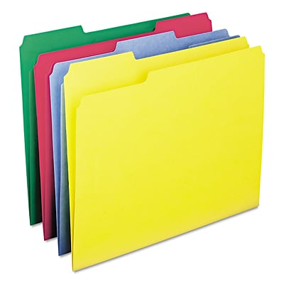 Smead® WaterShed®/CutLess® File Folders, Letter, Assorted, 100/Box (11951)