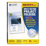 C-Line® Multi-Section Project Folders, Clear, Letter, 1/Box(62117)