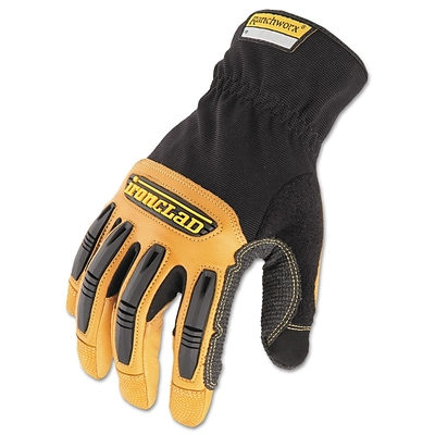 Ironclad Ranchworx® Leather Gloves, X-Large, Black/Tan, 1/Pair (RWG2-05-XL)