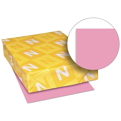 Exact Brights Paper, 8 1/2 x 11, Bright Pink, 20 Lb., 500 Sheets/ream