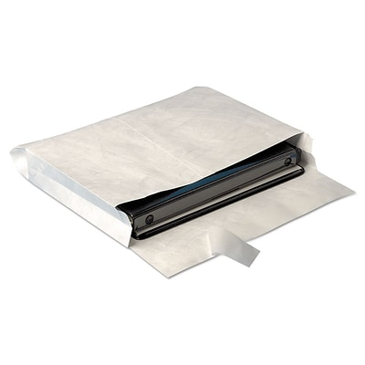 Survivor Open End Expansion Tyvek Mailers, White, 10 x 13, 25/Pack (R4611)