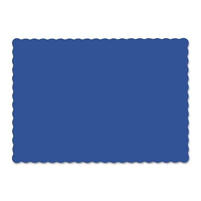 Hoffmaster® Placemats, 9 1/2 x 13 1/2, Scalloped Edges, Navy Blue, 1000/Carton (HFM 310523)