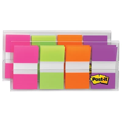 Post-it® Flags, 1 Wide, Assorted Colors, 160 Flags/Pack (680-PGOP2)