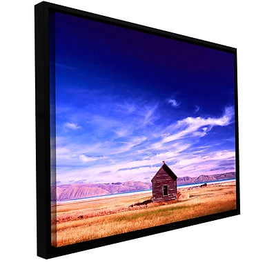 ArtWall Bear Lake Autumn Gallery-Wrapped Canvas 14 x 18 Floater-Framed (0uhl006a1418f)