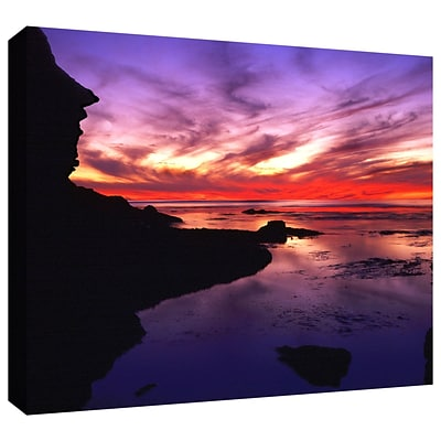 ArtWall Sunset Cliffs Twilight Gallery-Wrapped Canvas 36 x 48 (0uhl016a3648w)
