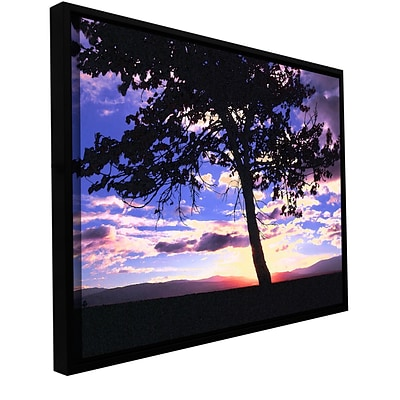 ArtWall Teton Meadow Sunrise Gallery-Wrapped Canvas 24 x 32 Floater-Framed (0uhl017a2432f)