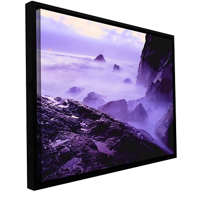 ArtWall Patricks Point Sunset Gallery-Wrapped Canvas 14 x 18 Floater-Framed (0uhl033a1418f)