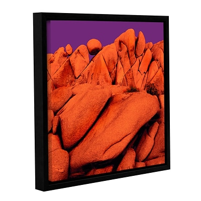 ArtWall santa Ana Afterglow Gallery-Wrapped Canvas 14 x 14 Floater-Framed (0uhl034a1414f)
