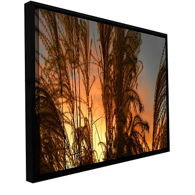 ArtWall Summer Grass Gallery-Wrapped Canvas 12 x 24 Floater-Framed (0uhl037a1224f)