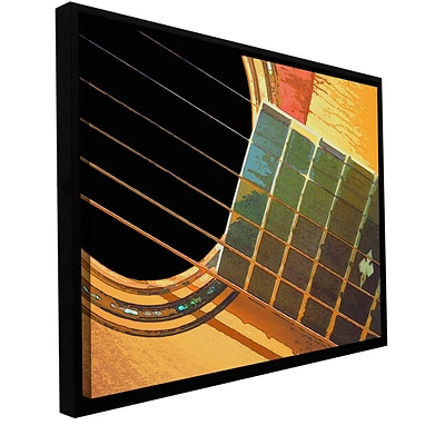 ArtWall Impresion De La Guitarra Gallery-Wrapped Canvas 24 x 32 Floater-Framed (0uhl054a2432f)