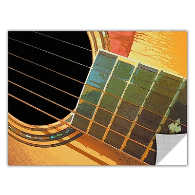 ArtWall Impresion De La Guitarra Art Appeelz Removable Wall Art Graphic 18 x 24 (0uhl054a1824p)