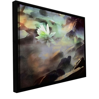 ArtWall Lily In Rocks Gallery-Wrapped Canvas 18 x 24 Floater-Framed (0uhl058a1824f)