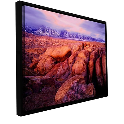 ArtWall Sierra Dawn Storm Light Gallery-Wrapped Canvas 14 x 18 Floater-Framed (0uhl064a1418f)