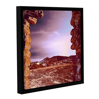 ArtWall Borax Ruins Gallery-Wrapped Canvas 18 x 18 Floater-Framed (0uhl071a1818f)