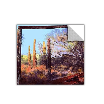 ArtWall Ghost Ranch 2 Art Appeelz Removable Wall Art Graphic 14 x 14 (0uhl076a1414p)