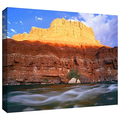 ArtWall Marble Canyon Sunset Gallery-Wrapped Canvas 36 x 48 (0uhl081a3648w)