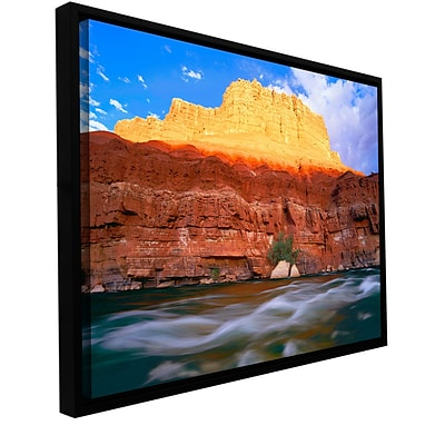 ArtWall Marble Canyon Sunset Gallery-Wrapped Canvas 14 x 18 Floater-Framed (0uhl081a1418f)