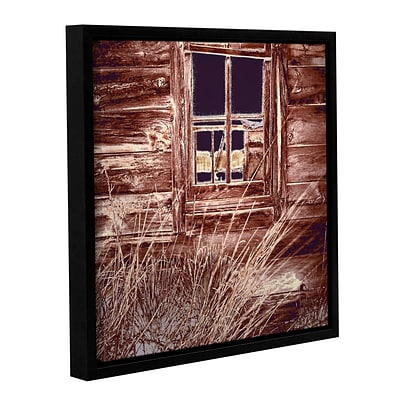 ArtWall Miners Cabin Gallery-Wrapped Canvas 14 x 14 Floater-Framed (0uhl084a1414f)