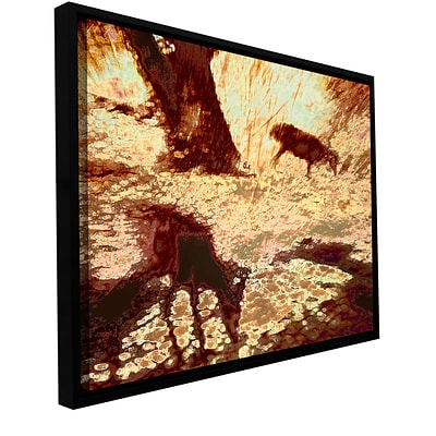 ArtWall Morning Deer Gallery-Wrapped Canvas 36 x 48 Floater-Framed (0uhl085a3648f)