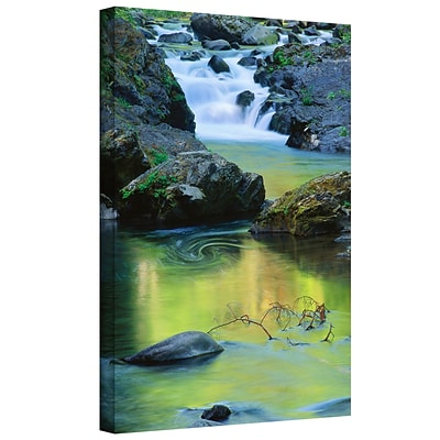 ArtWall Sol Duc River Reflect Gallery-Wrapped Canvas 36 x 48 (0uhl097a3648w)