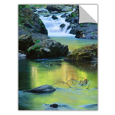 ArtWall Sol Duc River Reflect Art Appeelz Removable Wall Art Graphic 18 x 24 (0uhl097a1824p)